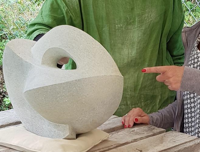 Kursarbeit. Skulptur aus Opal, Serpentin.