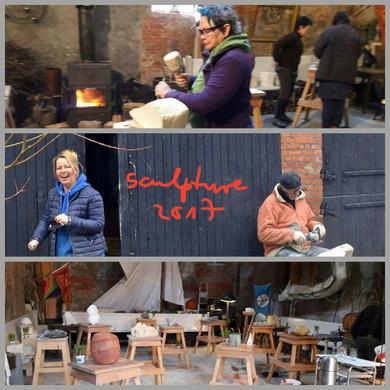 Gesammelte Eindrücke. Einladung zur Teilnahme am Steinbildhauerkurs in Stavenisse, Holland.