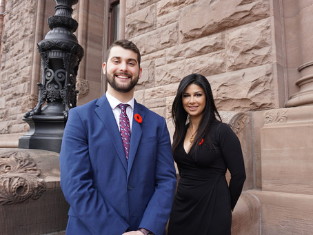 Placement Posts -Eric with MPP Goldie Ghamari