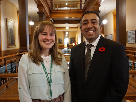 Placement Posts - Clare with MPP Kaleed Rasheed
