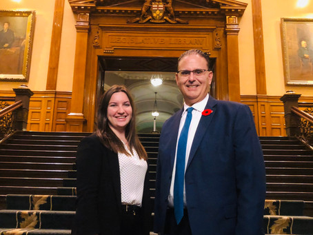 Placement Posts - Meaghan with MPP Rudy Cuzzetto