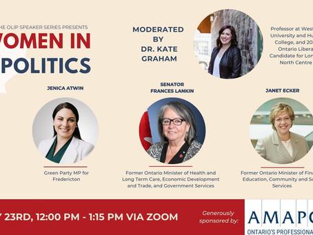 OLIP Speaker Series III:Women in Politics