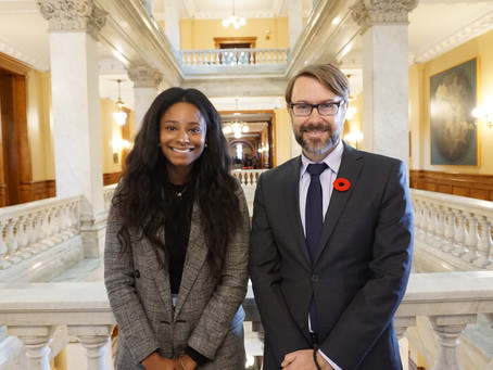 Placement Posts - Vanessa with MPP Tom Racocevic