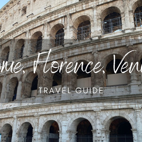 Travel Guide Though Italy -  Rome, Florence and Venice.