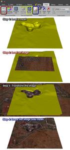 GEM4D image draping steps