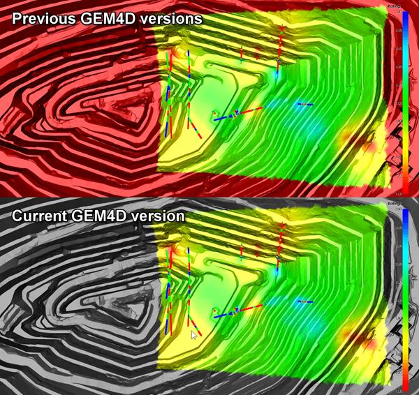 GEM4D comparing colours outside model bounds