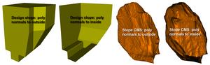 GEM4D polygon normal impact on visual representation