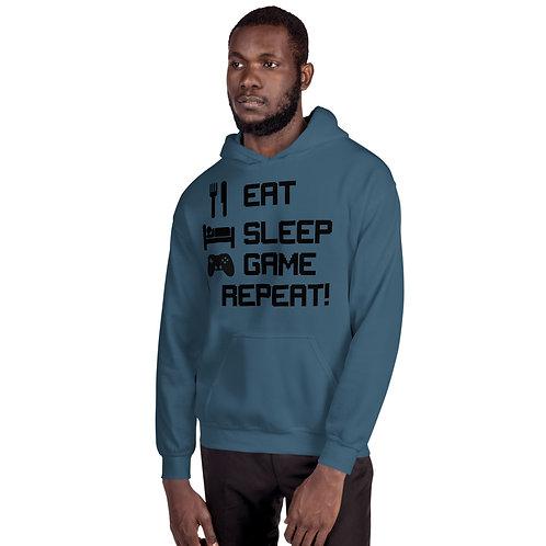 Eat Sleep Game Repeat Unisex Hoodie