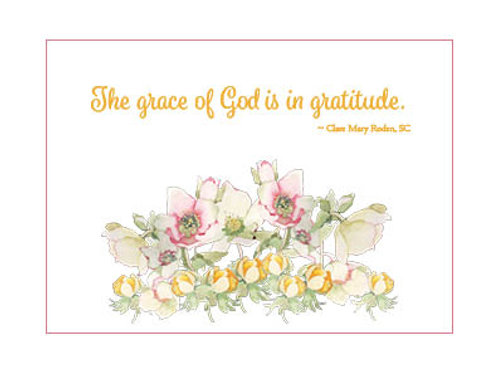 Charity Notes - Gratitude Card - Sr. MC. Roden