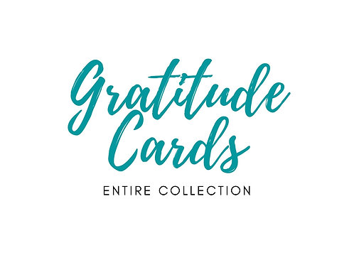 Charity Notes - Gratitude Cards - Entire Collection - 18 cards
