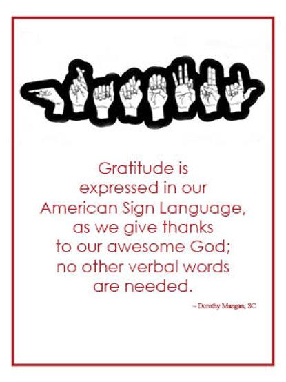 Charity Notes - Gratitude Card - Sr. D. Mangan