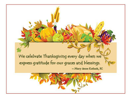 Charity Notes - Gratitude Card- Sr. MA. Katlack