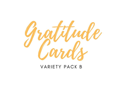 Charity Notes - Gratitude Cards - Variety Pack B - 6 cards