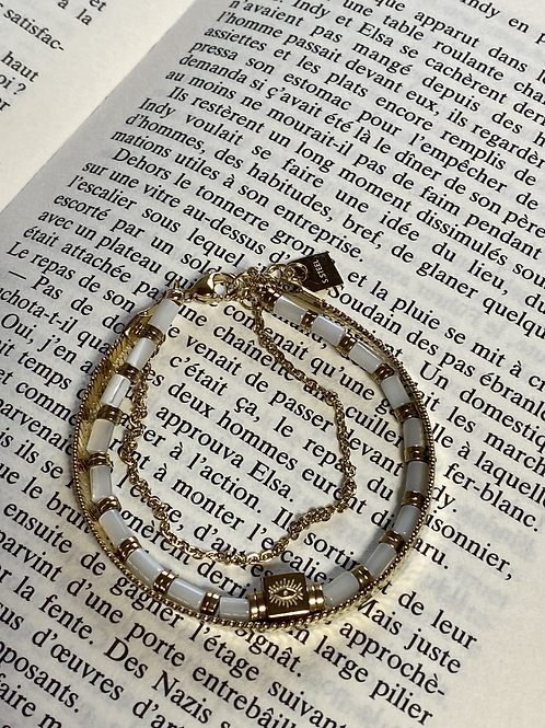 Bracelet triple doré