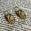 Thumbnail: Boucles d'oreille dorée ovale agate