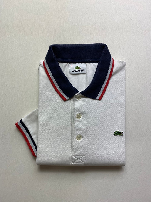 Polo Lacoste blanc T.5