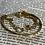 Thumbnail: Bracelet triple doré