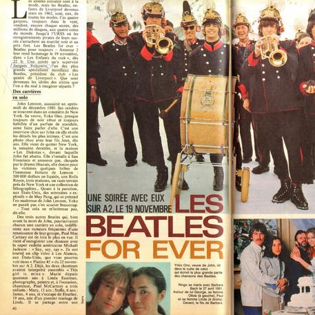 Télé 7 jours Les Enfants du Rock Beatles 19 novembre 1983