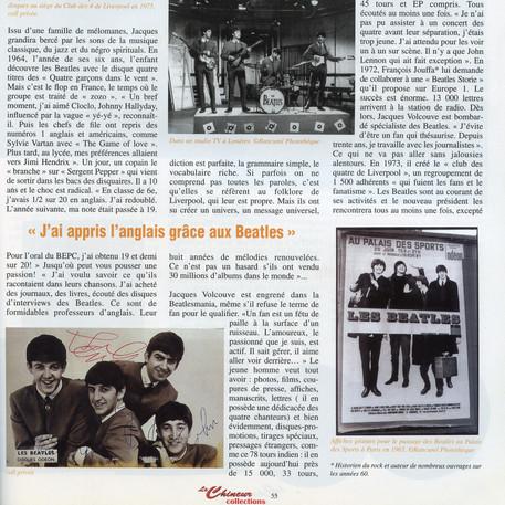 Interview JacquesVolcouve  Le Chineur octobre 2002