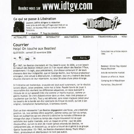 Rebond Libération 25 nov 2006