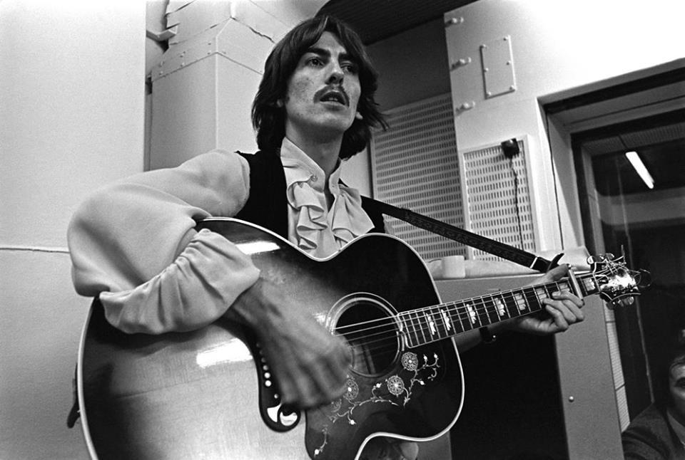 While My Guitar Gently Weeps 7 octobre 1968 (Phto Linda McCartney)