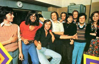 Jacques et Gilles Volcouve à l'Atelier Jeunes d'Europe 1 en 1973