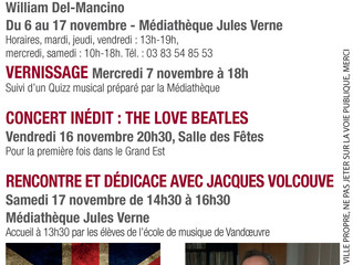 Hommage The Beatles 6 > 17 Novembre