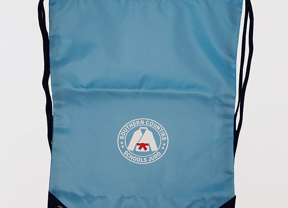 Judo Blue Drawstring Bag