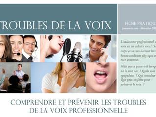 Newsletter n°4 | Décembre 2013 | Fiche pratique : les troubles de la voix professionnelle