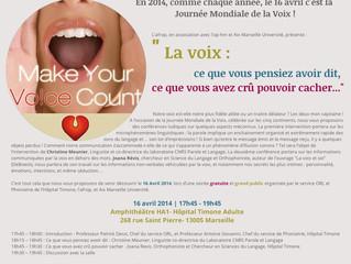 La Journée Mondiale de la Voix, c'est dans un mois !