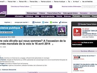 """""""La Voix et Soi"""" sur France Culture !"""