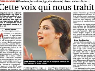 """Une nouvelle publication presse pour """"La Voix et Soi"""" !"""