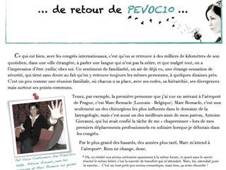 Newsletter n°1 | Septembre 2013 | De retour de PEVOC10...