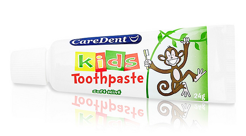 Soft Mint Kids Toothpaste 24g - Caredent Box/30