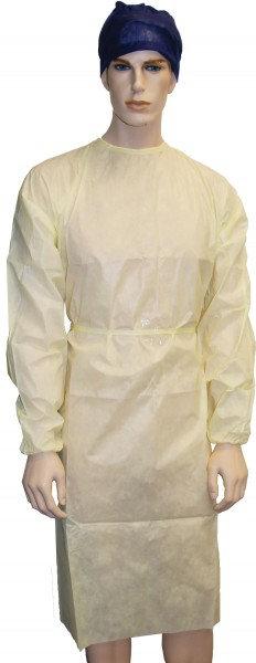 Owear Gown Splash Resistant, Yellow - Pkt/50 (Sentry)