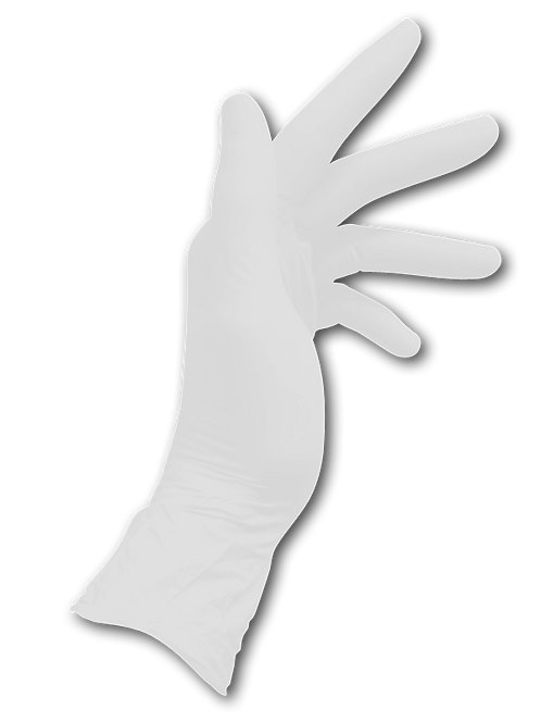 Dentaflex White Nitrile Gloves (Mediflex)