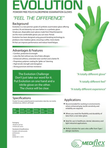 Evolution Powder Free Polychloroprene Examination Gloves