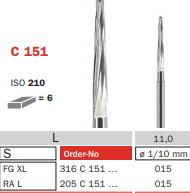 Burs - Diaswiss Zekray FG XL - Carbide - Pkt/5
