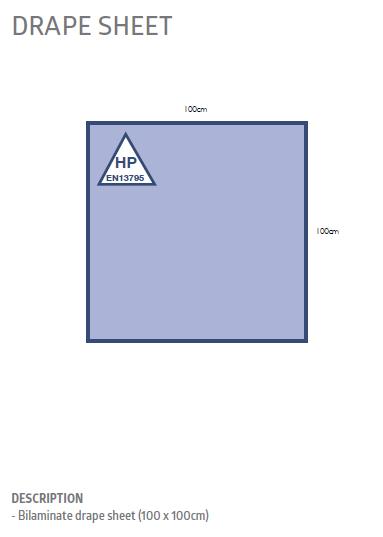 Drape, Sterile Sheet 100cm x 100xm - Box/20 (Bilam)