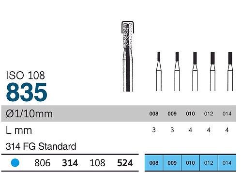 Burs - SS White Diamond FG - 835 Flat Fissure 4-5mm FG