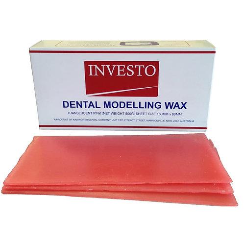 Investo Pink Modelling Wax - 500g