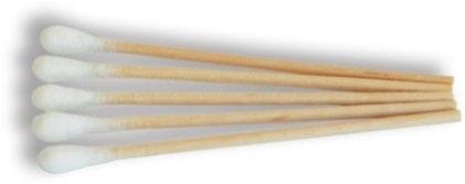 Cotton Tip Applicators - Single End Wooden Shank 15cm - 12 xPkt/100