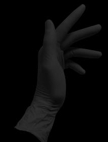 Black Nitrile Gloves - Medium (Box/100)