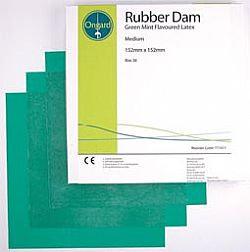 Rubber Dam - Green DPA Mint - Medium - Pkt/36