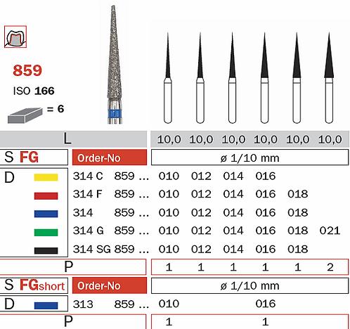 Burs - Diaswiss Diamond FG - 859 Needle FG - Pkt/10
