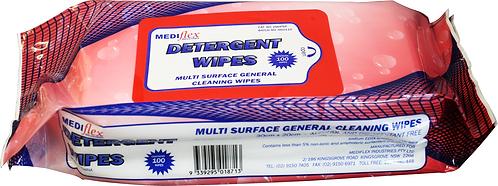 Detergent Wipes - 6 Pkt/100 (Mediflex)