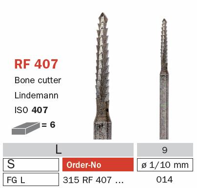 Burs - Lindemann FG L - RF.407/014 - Pkt/5