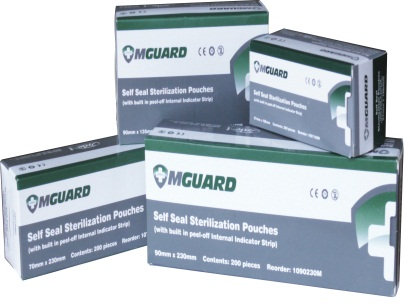 Self Sealing Sterilisation Pouches - Box/200 (MGUARD)