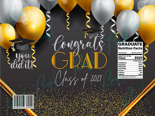 Graduation Chip Bag Design