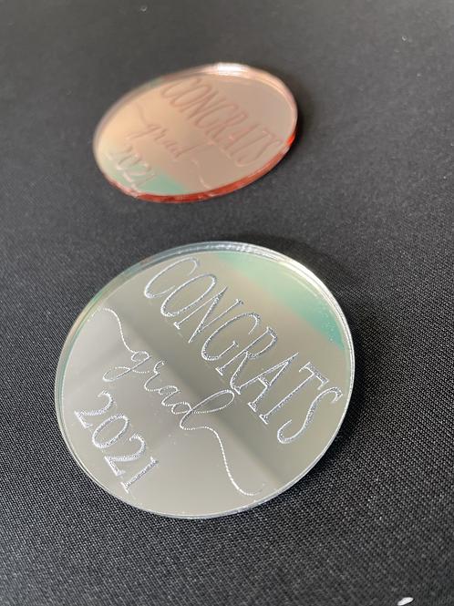 Engraved Graduation Cupcake Gem